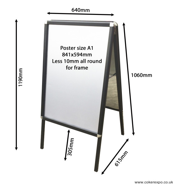 A1 pavement sign board for hire - rental.