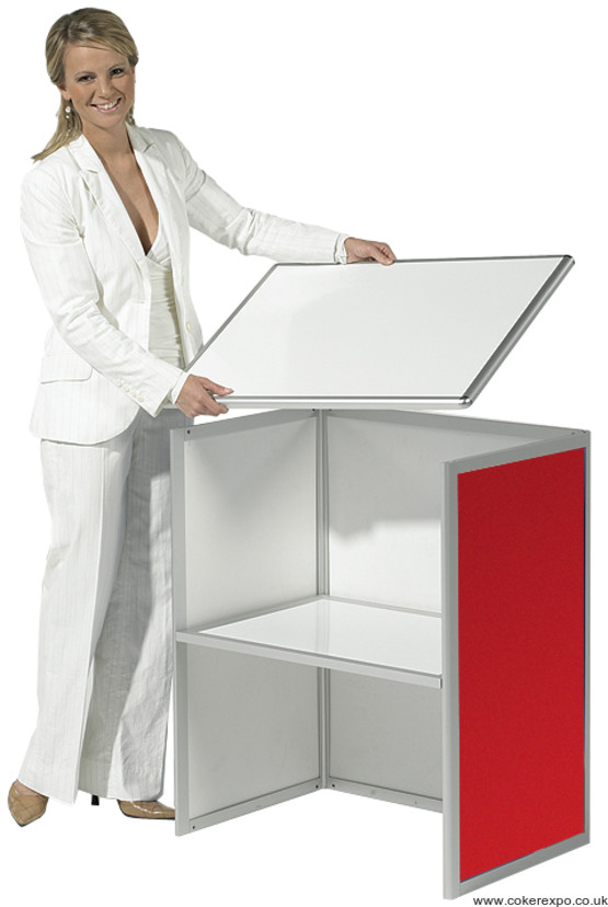 Assemble of a CDC portable exhibition counter.