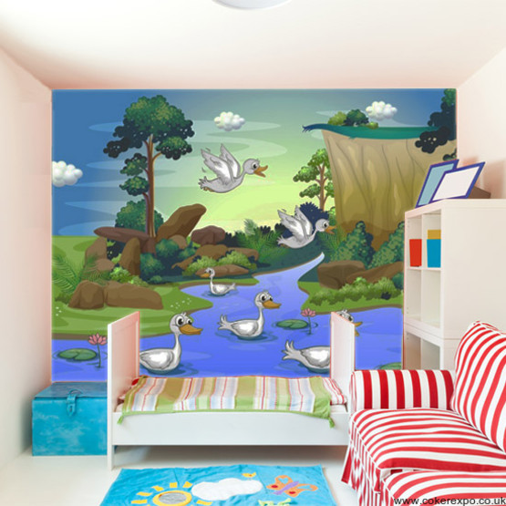 Custom childrens bedroom wallpaper