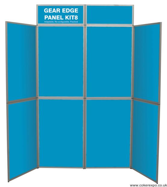 6 panel gear edge display stand