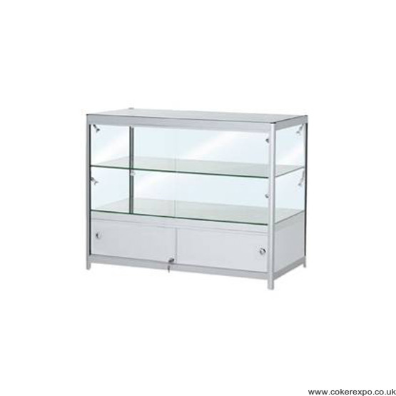 Glass showcase double shelf CFGC2