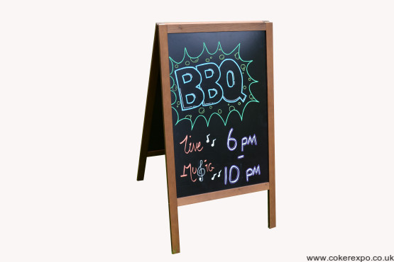 Set up A frame chalkboard pavement sign