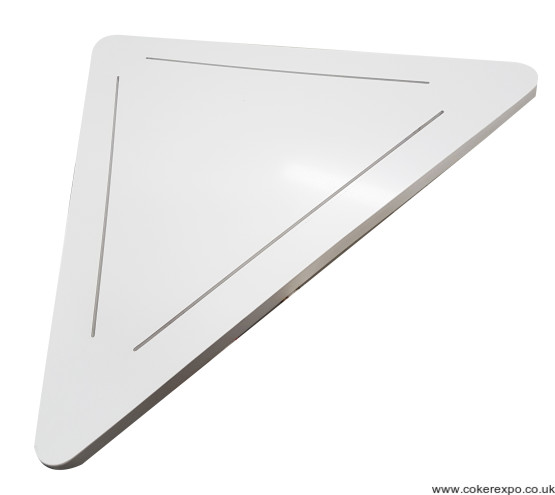 Triangular display pedestal