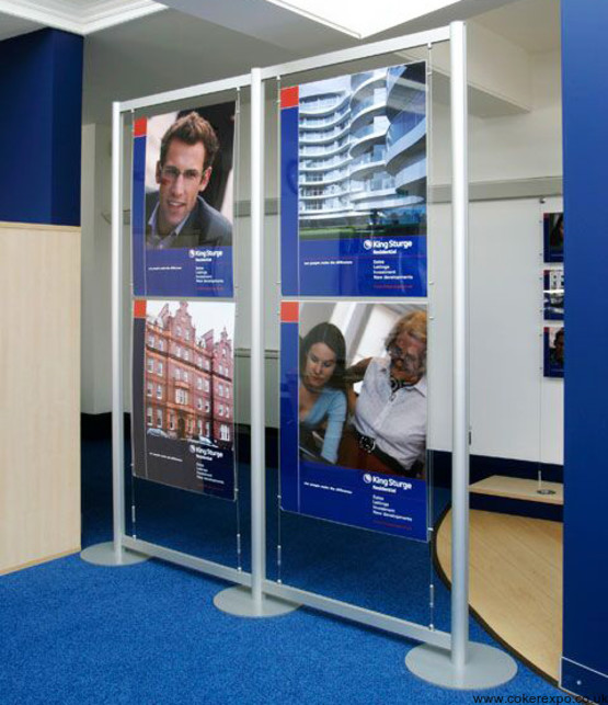 free standing wire display stands for poster displays