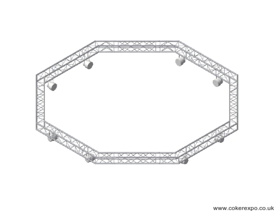 Suspended lighting truss in Quad