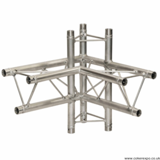 S35 Lighting Truss 4 way corner left hand