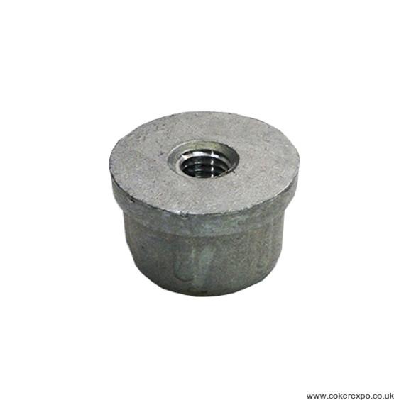 Threaded insert for aluminium tube
