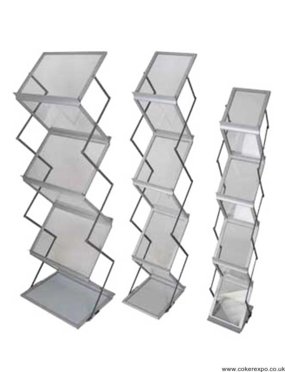 Media 6 literature rack A5, A4, A3.