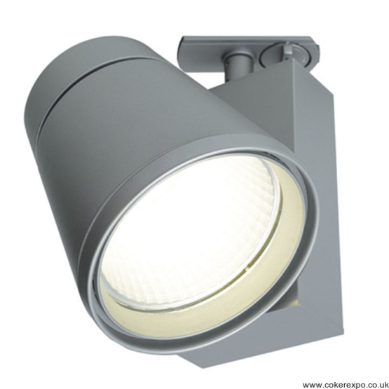 37w led track spotlight in silver