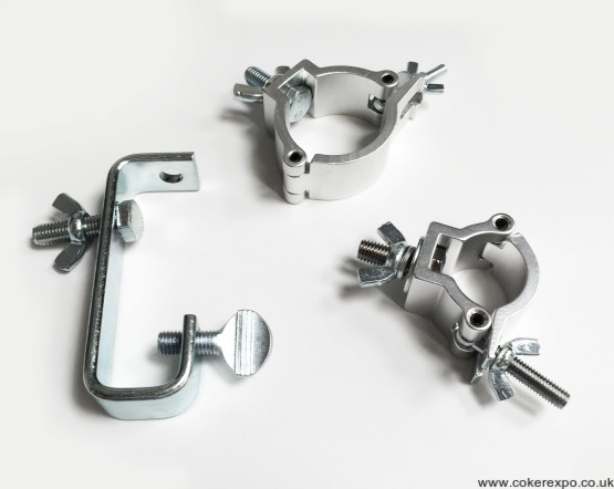 Range of clamps for exhibition lights
