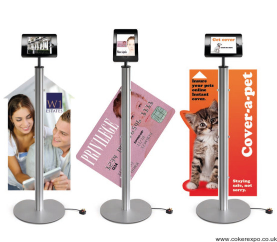 ipad pos stand with sign ideas