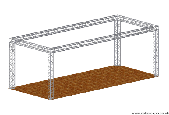 Rectangular exhibition stand Quad System 35