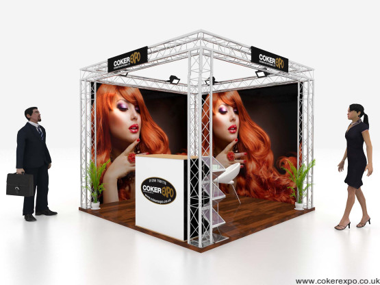 3x3M Lighting gantry exhibition stand