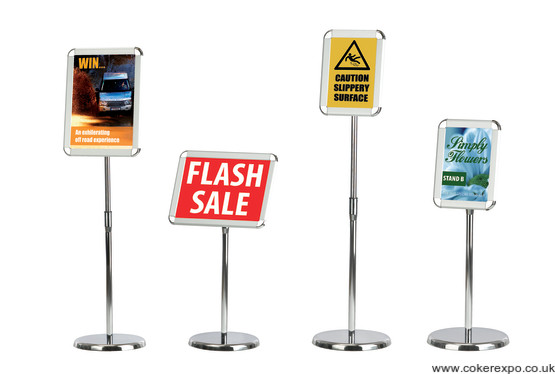 A4 and A3 information sign holder range