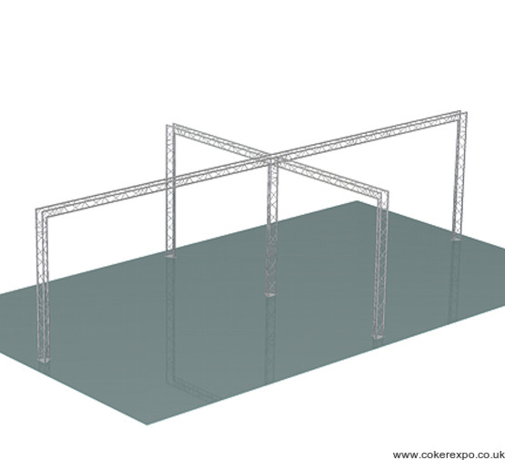 Trio decorative lighting truss build 73