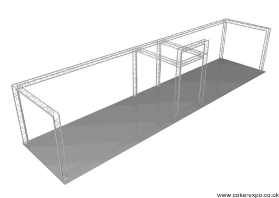 Side exhibition stand 12x3 Metres