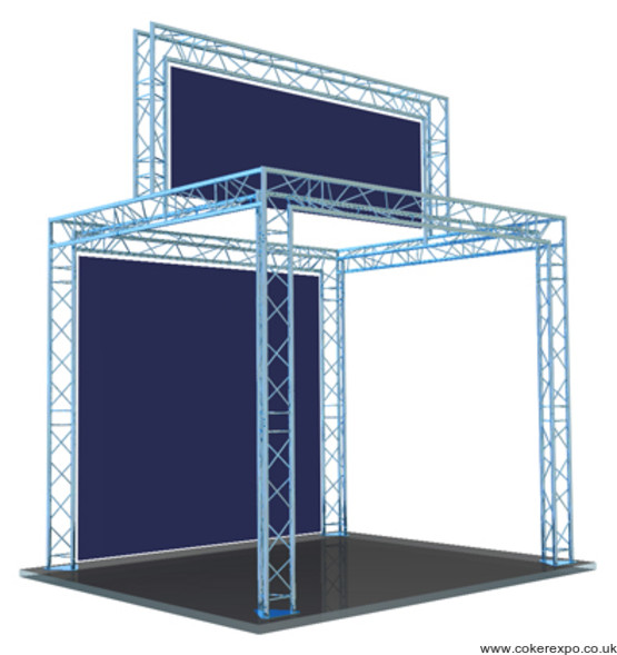 gantry exhibition stand with a top banner area