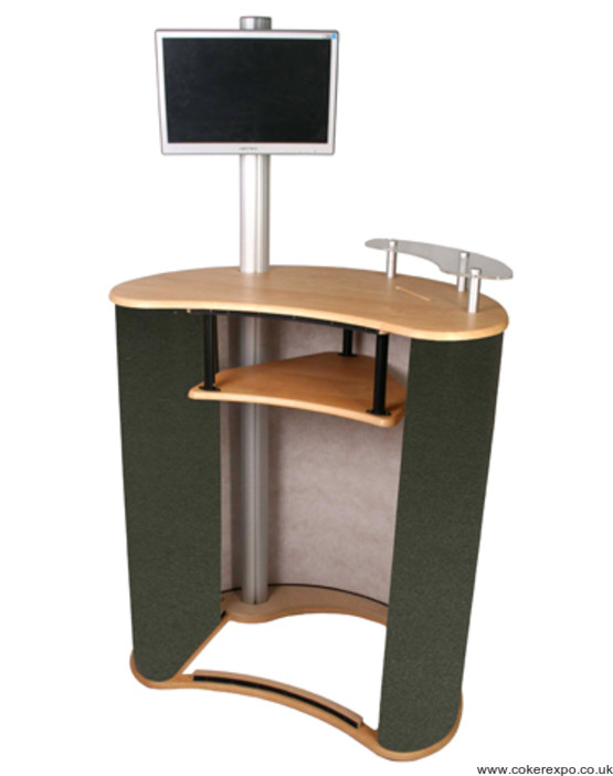 Mercury physique curved exhibition counter.