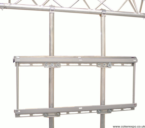 Plasma screen suspension for truss systems
