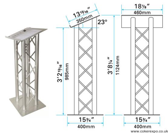 Quad truss lectern