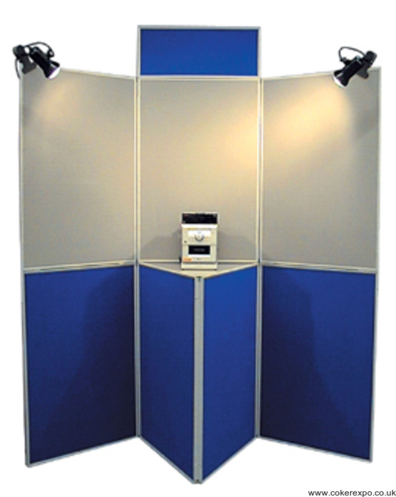 7 panel folding display board shown set up