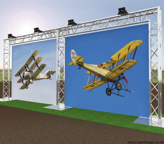 large freestanding aluminium banner stand