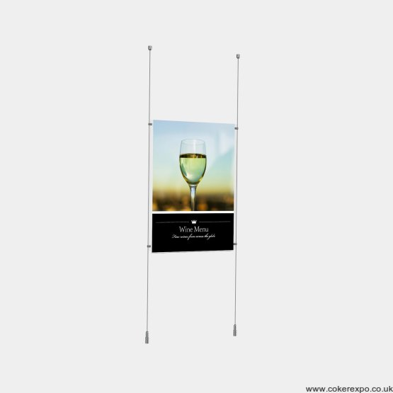 Poster display in acrylic pocket complete kit