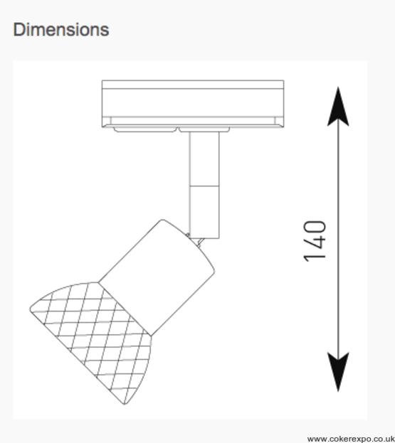 Codora led track light dimensions