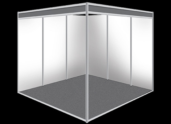 Shell scheme booth structure 2m x 2m