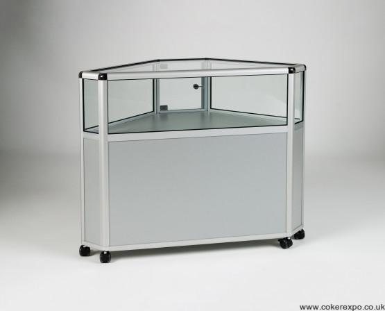Alpha glass corner cabinet EAG024