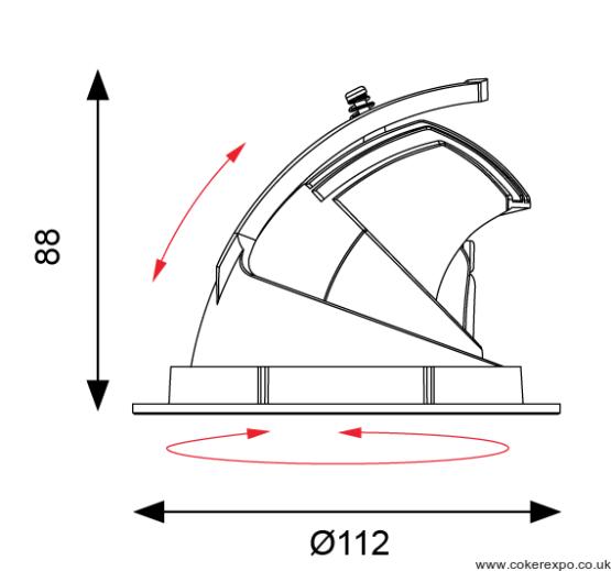 Unicity Wallwash Led light dimensions