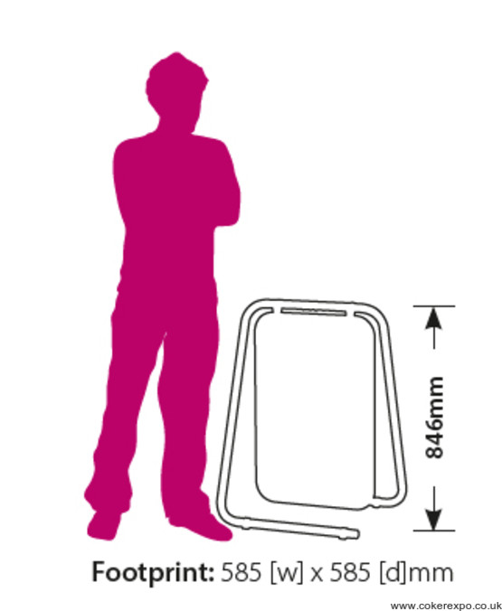 folding swing sign dimensions