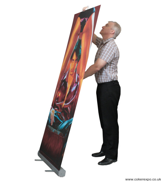 How to set up a roller banner stand