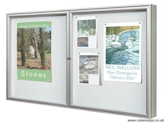 Double door premium notice boards
