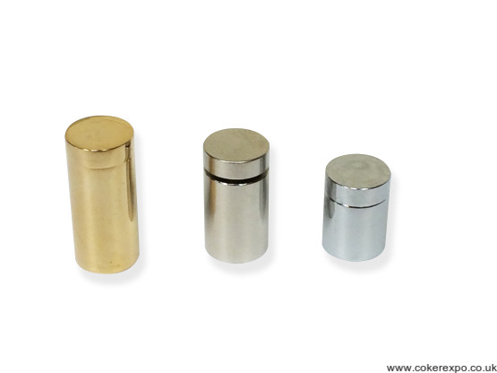 Satin chrome, chrome or gold colour standoffs 13mm Diameter