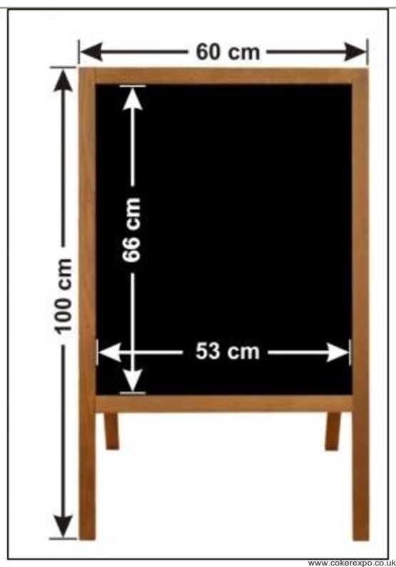 Chalkboard pavement sign dimensions
