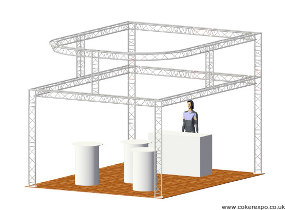 Lighting Truss Hire two tiers with circle top