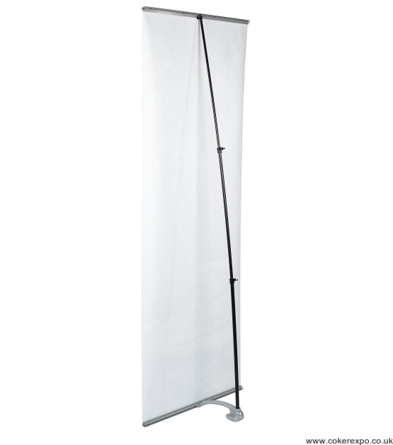 Rear view of a Uno banner stand.