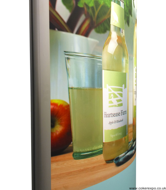 Back lit tower light box, with double sided graphics