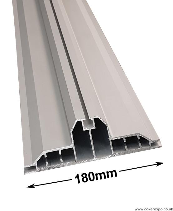 Edge and corner of LED lightbox detail