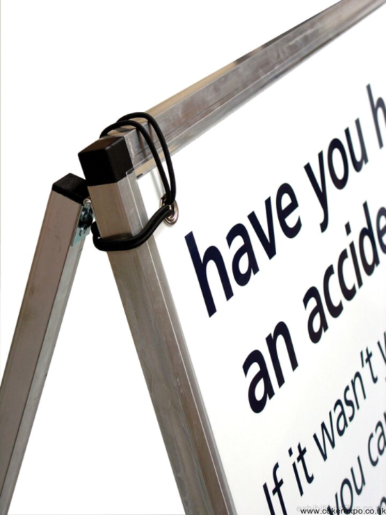 A frame for external pvc banner display needs