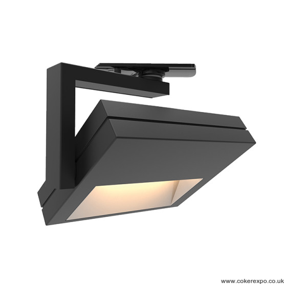 17w Led wall washer track light in black