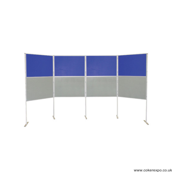 8 Panel and Pole display stand in 2 colours