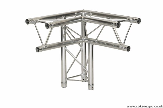 S35 trio lighting truss 3 Way apex down corner left hand