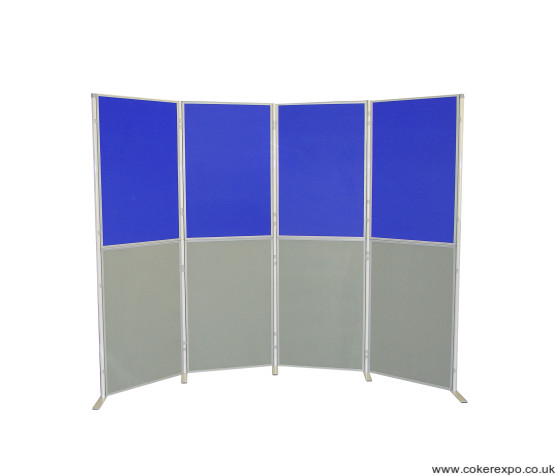 8 Panel and Pole display stand portrait orientation