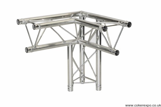 S35 trio lighting truss 3 way apex down corner right hand