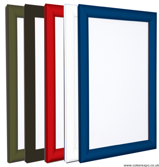 Poster frames coloured, snap fit A1-A5