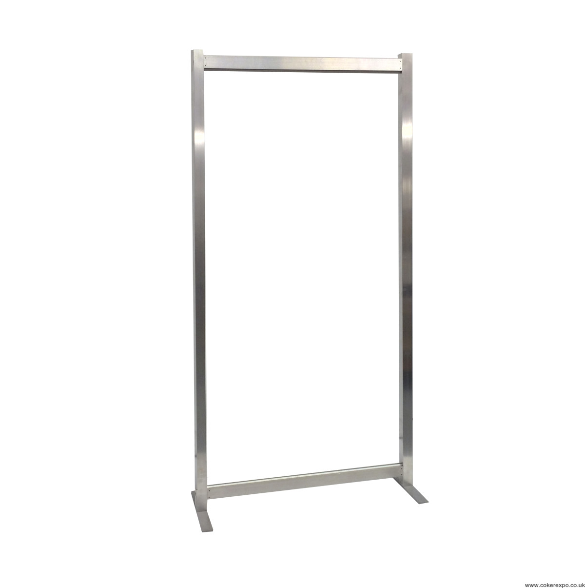 a basic free standing aluminium exhibition frame with feet - Display Frame