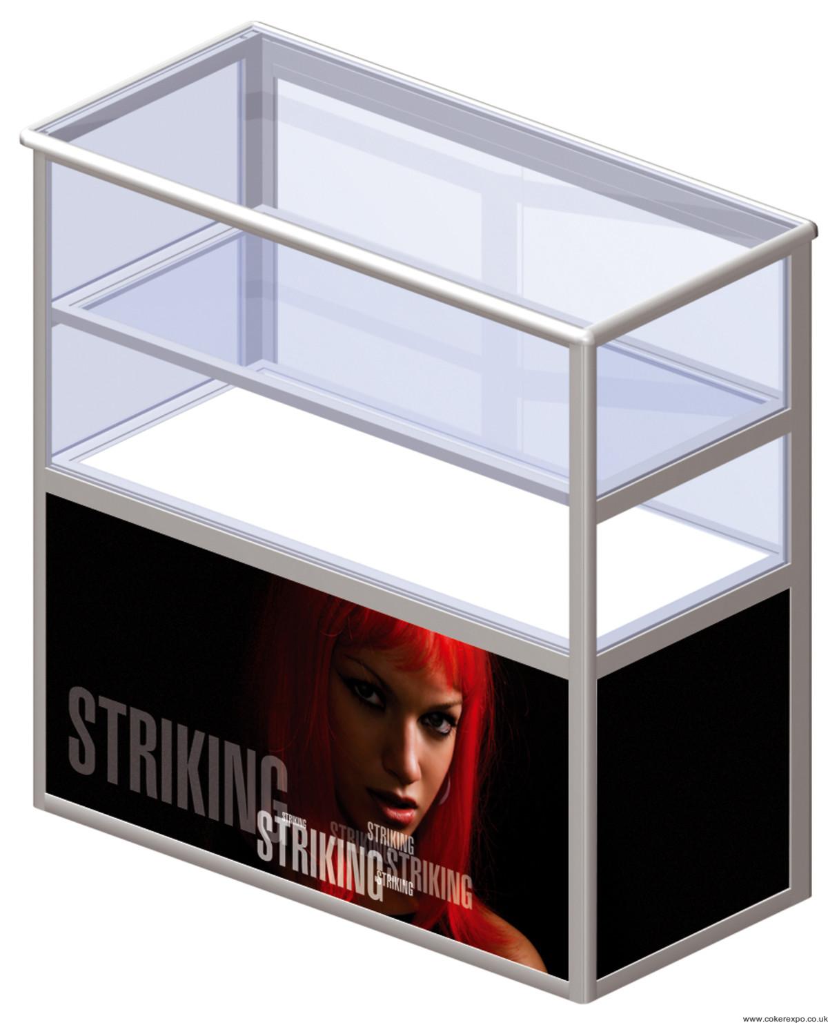 Portable Exhibition Shelves : Portable shelving unit vs with plywood shelves counter