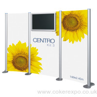 Audio Visual Display Stand Centro Kit 3